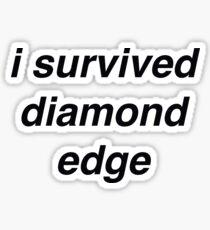 """i survived diamond edge"" Sticker"