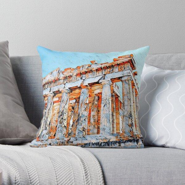 Bright Parthenon Throw Pillow