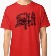 Band Death Logo Red (1991 Version) Classic T-Shirt