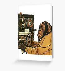 Affe Musikproduzent Grußkarte