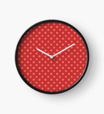 Dots Red Clock