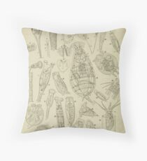 Microscopic Biology Throw Pillow