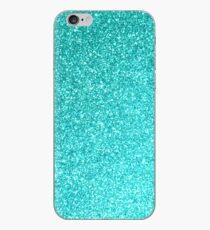 Aquamarine March Aries Birthstone Shimmering Glitter iPhone Case