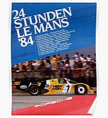 LE MANS : Vintage 1984 Auto Racing Prints Poster