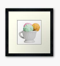 Ice cream balls  Framed Print