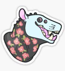 Floral monster sticker Sticker