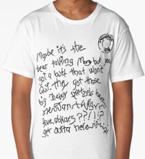 Maybe It's The Beer Talking - White  Long T-Shirt
