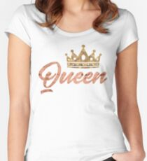 His and Hers - Queen Women's Fitted Scoop T-Shirt