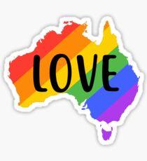 gay australia love Sticker
