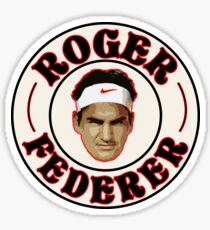 Roger Federer Badge Sticker