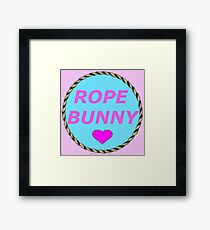ROPE BUNNY - Art By Kev G Framed Print