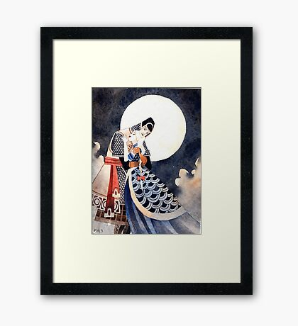Good Night, My Knight Framed Print