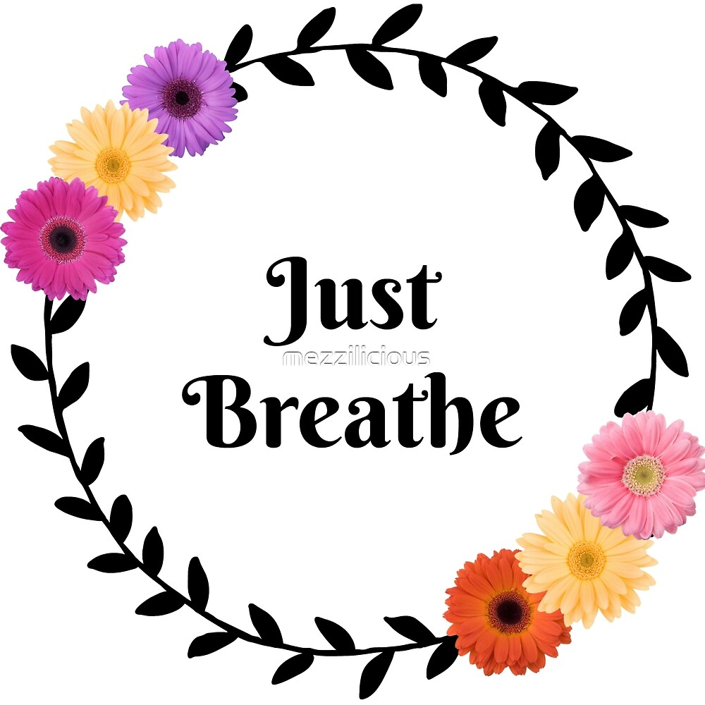 Just Breathe - Wreath, Daisies  by mezzilicious