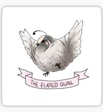 The Elated Quail Sticker