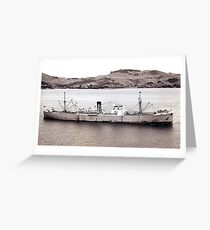 M.V. Port Fairy - a blast from the past ! Greeting Card