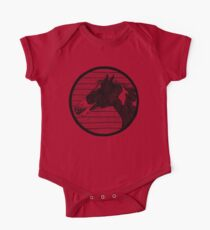Black and White Horse Logo Kids Clothes