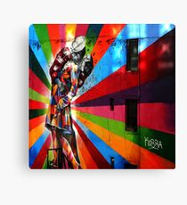 The New York Colourfull Kiss Canvas Print