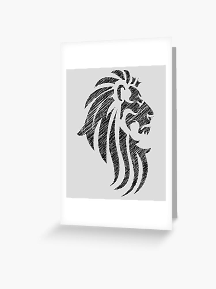 b79543596 Lion Tribal Tattoo Style Distressed Design