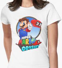 Super Mario Odyssey - Mario Art Women's Fitted T-Shirt