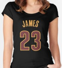 LeBron James Jersey Women's Fitted Scoop T-Shirt