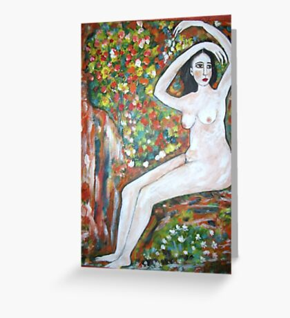 Nude on a rock Greeting Card