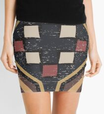 Cool Abstract Enchanting Shapes and Colors Mini Skirt