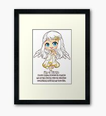 Cute Virgo Sign Funny Quote Chibi Framed Print