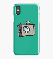 Old Timey Camera Minimalist Ink Drawing iPhone Case