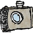 Old Timey Camera Minimalist Ink Drawing by Peter Fenton