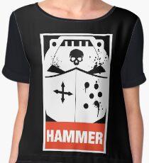 Warhammer 40k Inspired Grey Knights HAMMER Women's Chiffon Top