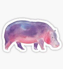 Watercolour Galaxy Hippo Sticker