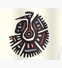 Inca Animals: Turkey - Cool Bird Poster