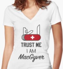 MacGyver Women's Fitted V-Neck T-Shirt