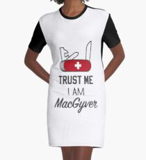 MacGyver Graphic T-Shirt Dress