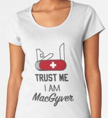 MacGyver Premium Scoop T-Shirt