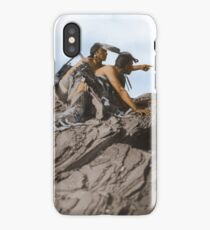 Watching The Herd - American Indians iPhone Case/Skin