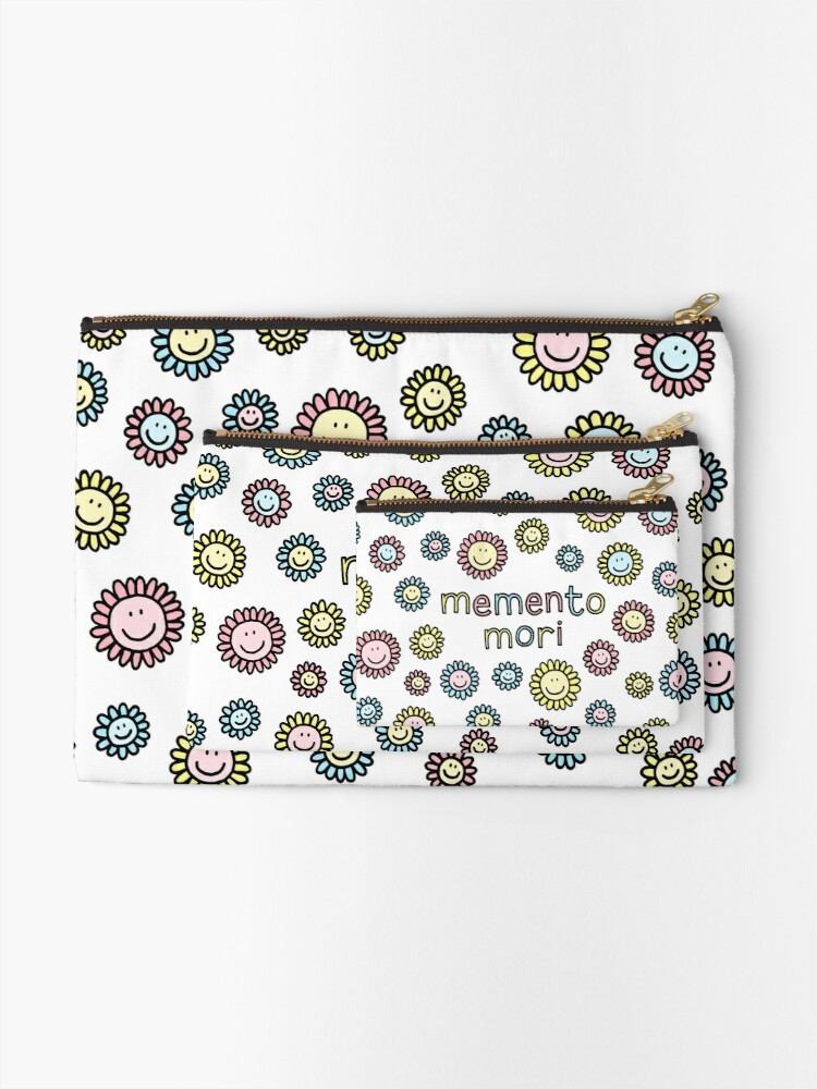 Alternate view of memento mori Zipper Pouch