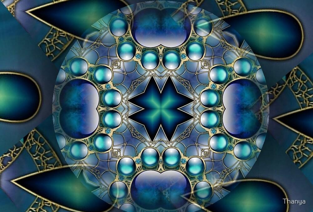 Blue Mandala 1 by Thanya