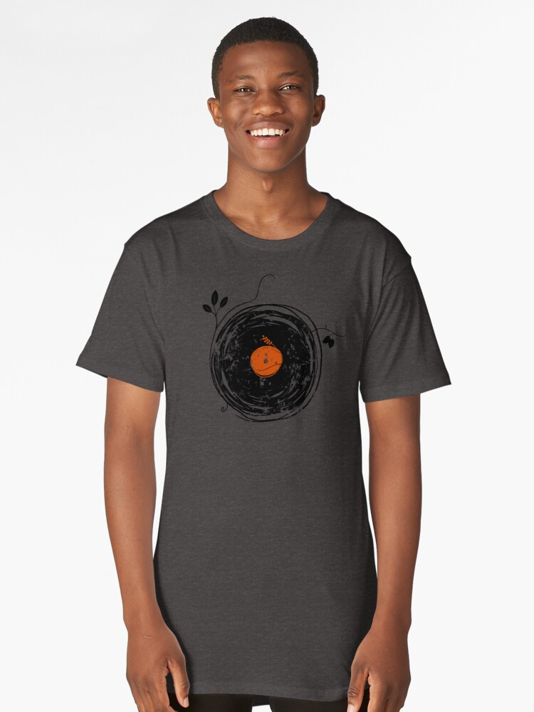Enchanting Vinyl Records Vintage Long T-Shirt Front