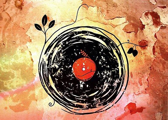 Enchanting Vinyl Records Vintage by Denis Marsili