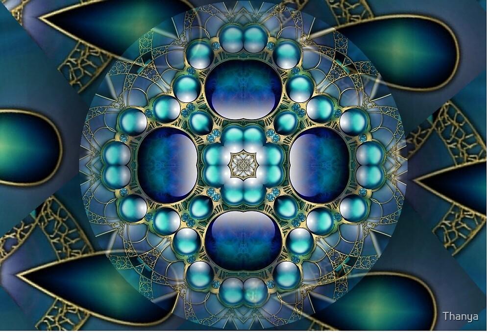 Blue Mandala 3 by Thanya