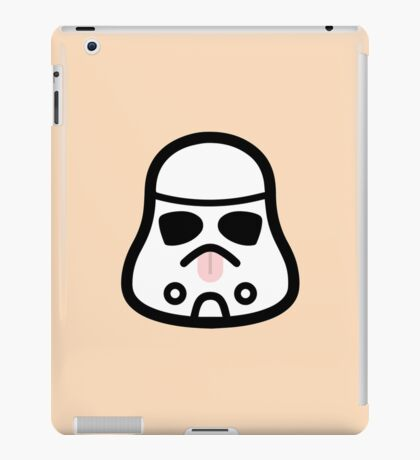 Minimal Stormtrooper (Tongue Out) iPad Case/Skin
