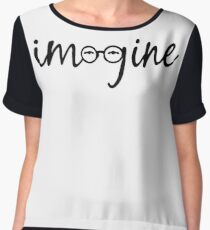 Imagine - John Lennon  Chiffon Top