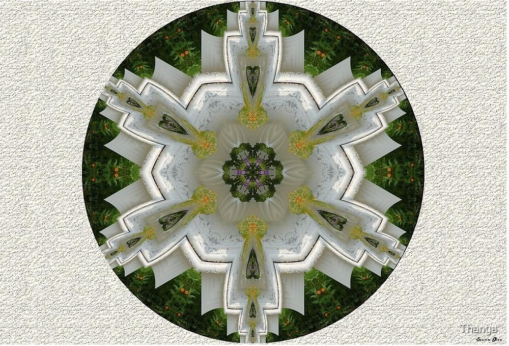 Flowers Mandala by Thanya