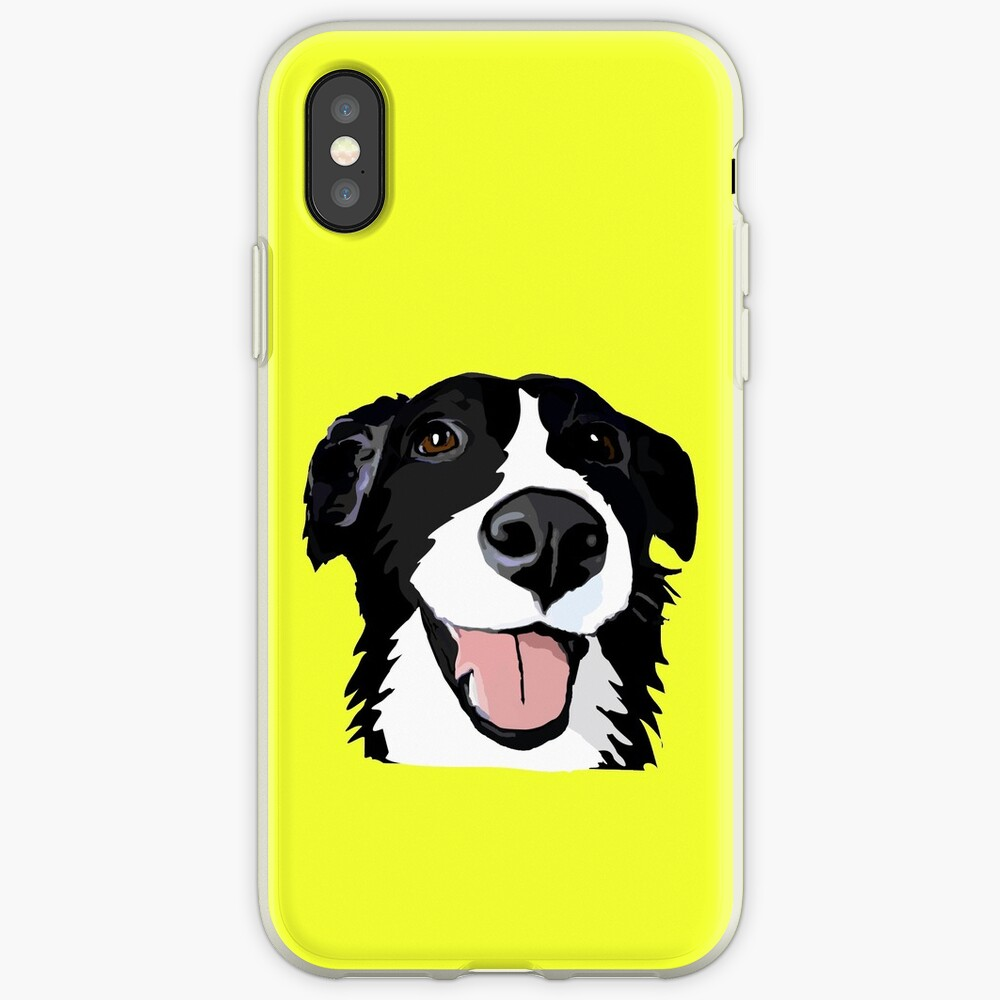 Smiley-Collie iPhone-Hülle & Cover