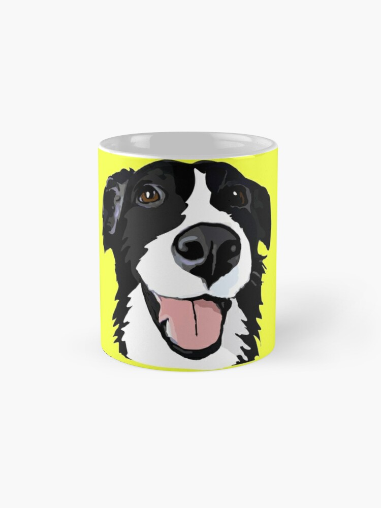 Alternative Ansicht von Smiley-Collie Tasse