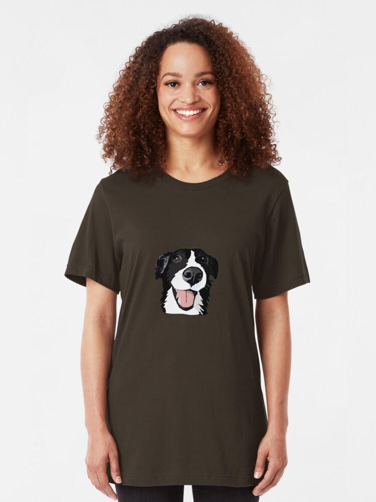 Alternative Ansicht von Smiley-Collie Slim Fit T-Shirt