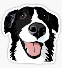 Smiley collie Sticker