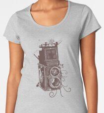 Retro Rolleiflex - Evolution of Photography - Vintage #2 Women's Premium T-Shirt