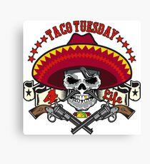 Taco Tuesday 4 Life Canvas Print
